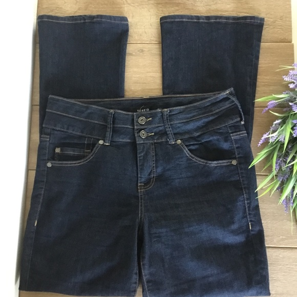 Torrid high rise bootcut jeans dark wash sz 12